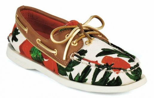 floral boat shoes