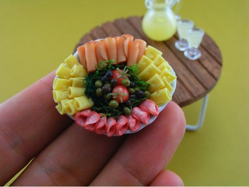 miniature food p*rn meat cheese platter
