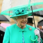 Queen Elizabeth color co-ordinated umbrella