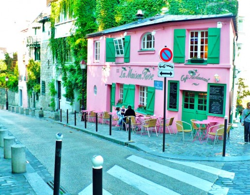 Pink cafe paris