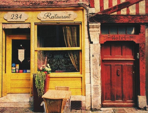 French restaurant rustic