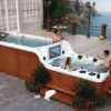 Double decker hot tub