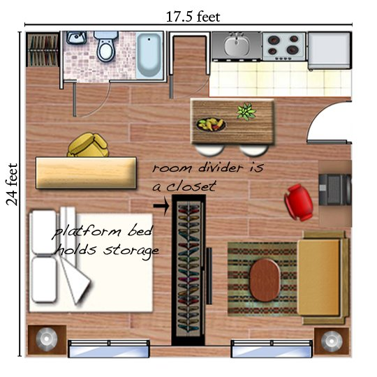 Tiny Apartment Layout 12 tiny-ass apartment design ideas to steal