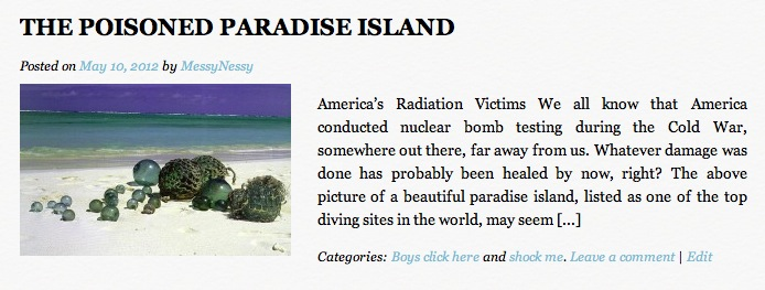 radiation island animal