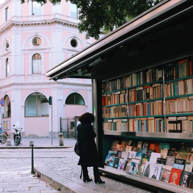 A little Italian street library Last one from Milan howhellip