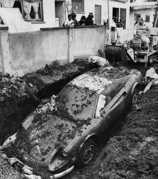 That Time Someone Found A Ferrari Buried In Their Front Yard