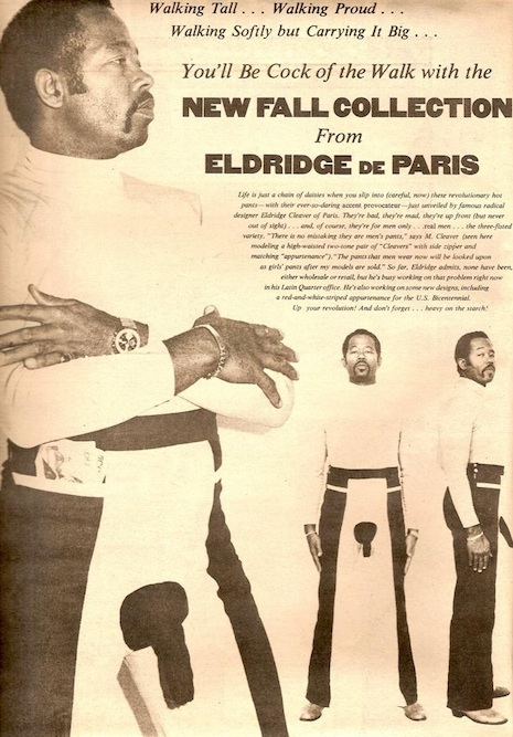 Eldridge cleaver penis pants