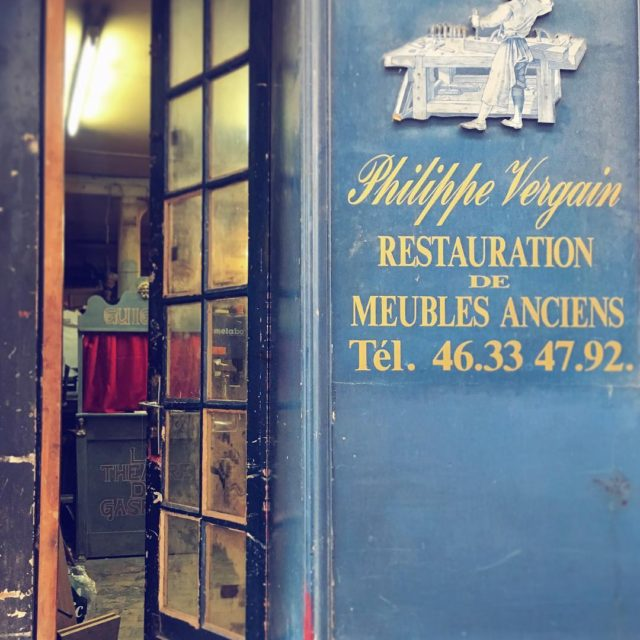 The door to the workshop of Philippe Vergain is usuallyhellip