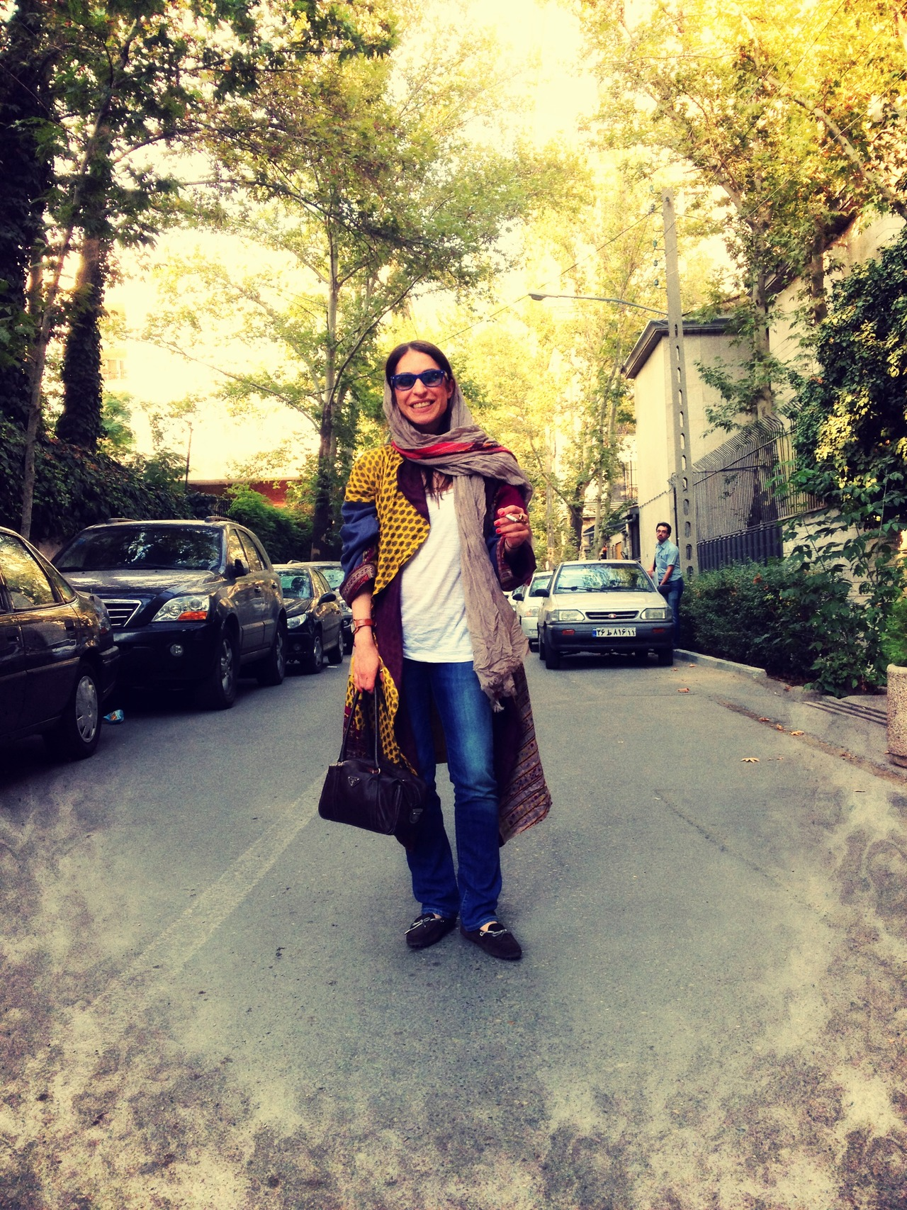 Fashion Accessories: Mideast Iran Women's Veil- In this Tuesday, May 24, 2011, female Iranian textile and fashion designer Marjaneh Abbasi, left