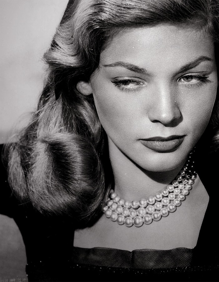 "With that unmistakable ""one is not amused"" sultry gaze and those unforgettable eyebrows, today I pick Lauren Bacall… - bacall2"