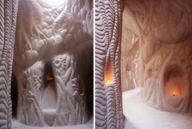 For sale spacious hand carved cave cathedral - The cave the modern home in the mexican desert ...