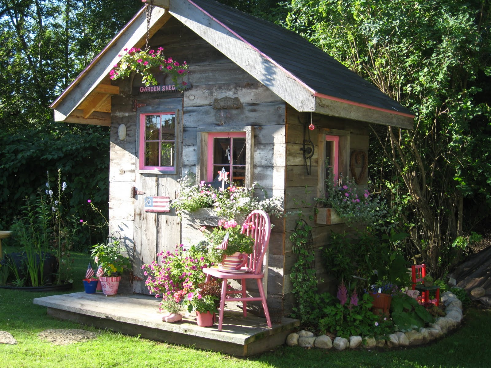 20 wendy houses for the peter pan in you for Garden shed pictures
