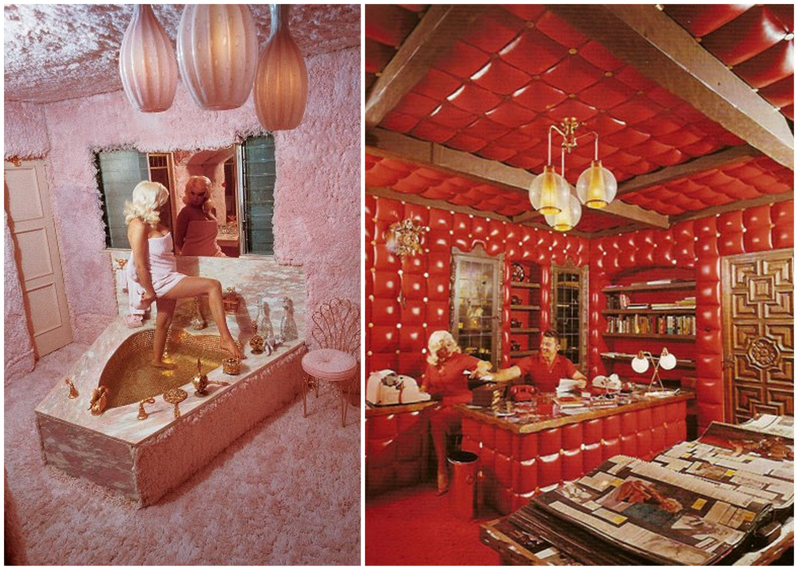 Jayne Mansfield House inside the mansfield mansion