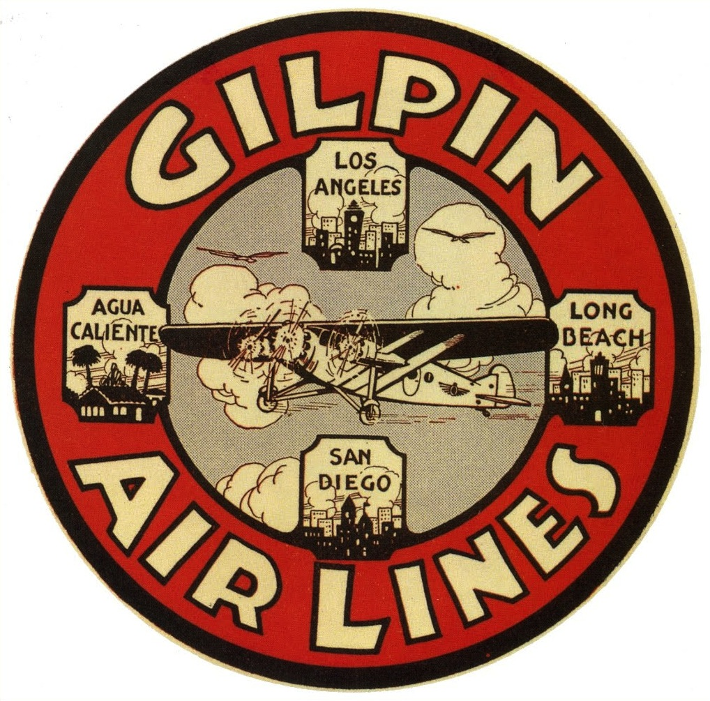 Let's Time Travel with Vintage Airline Luggage Labels