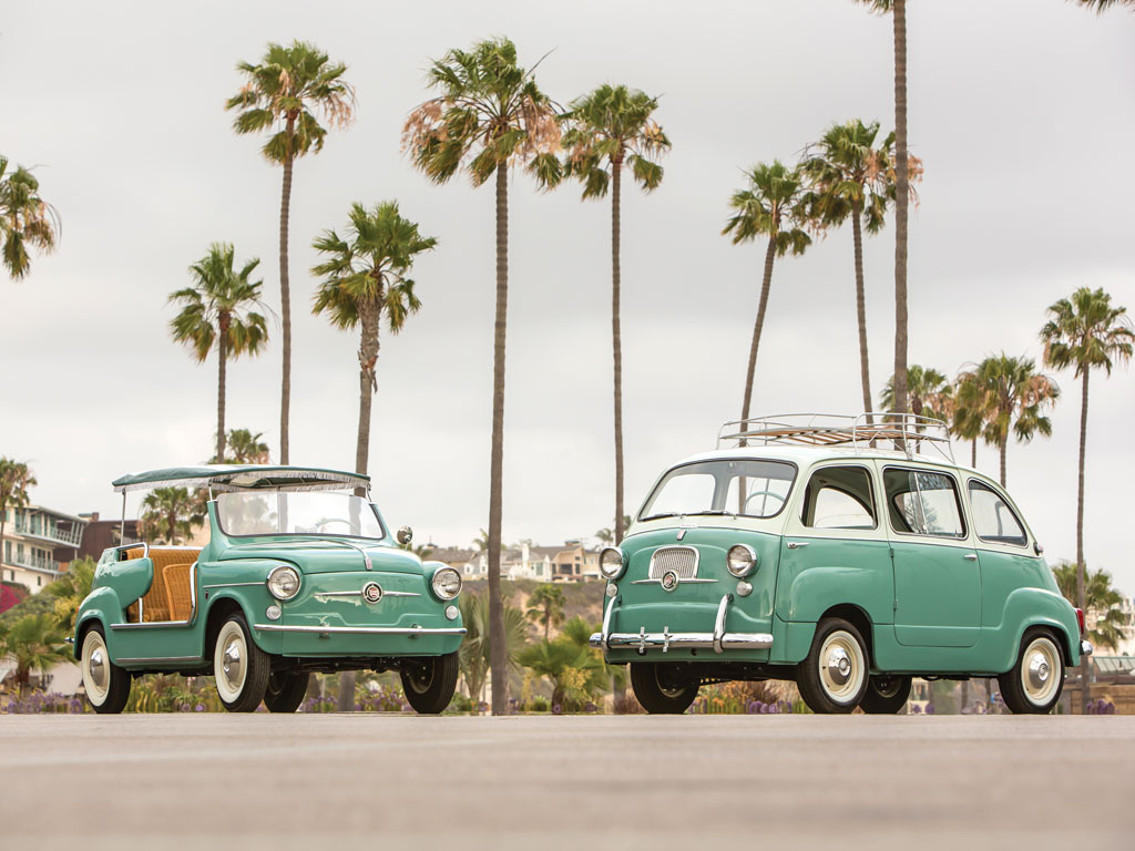 Retro Beach Wallpaper 500 489: This Adorable Mint Green Fiat Twinset Is For Sale