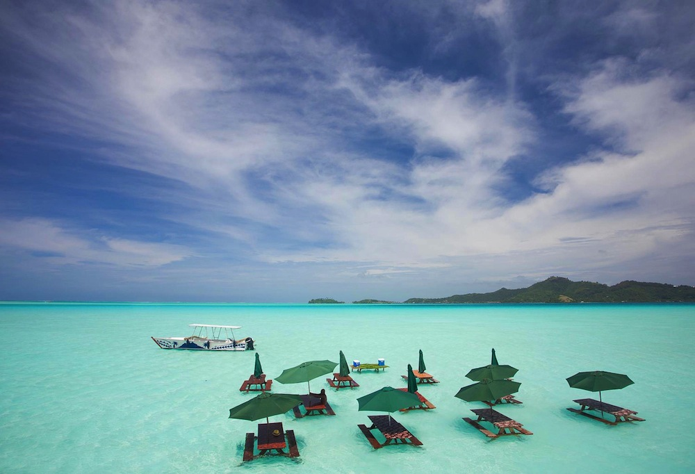 Bora Bora Isl Picnic In The Blue Lagoon Desktop Background