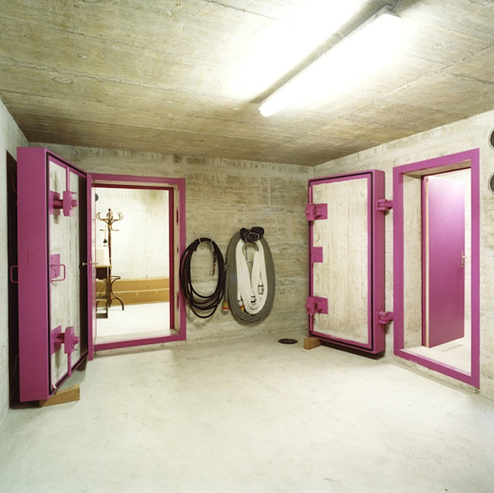 Pink Doors, Public Shelters near Zurich, Switzerland