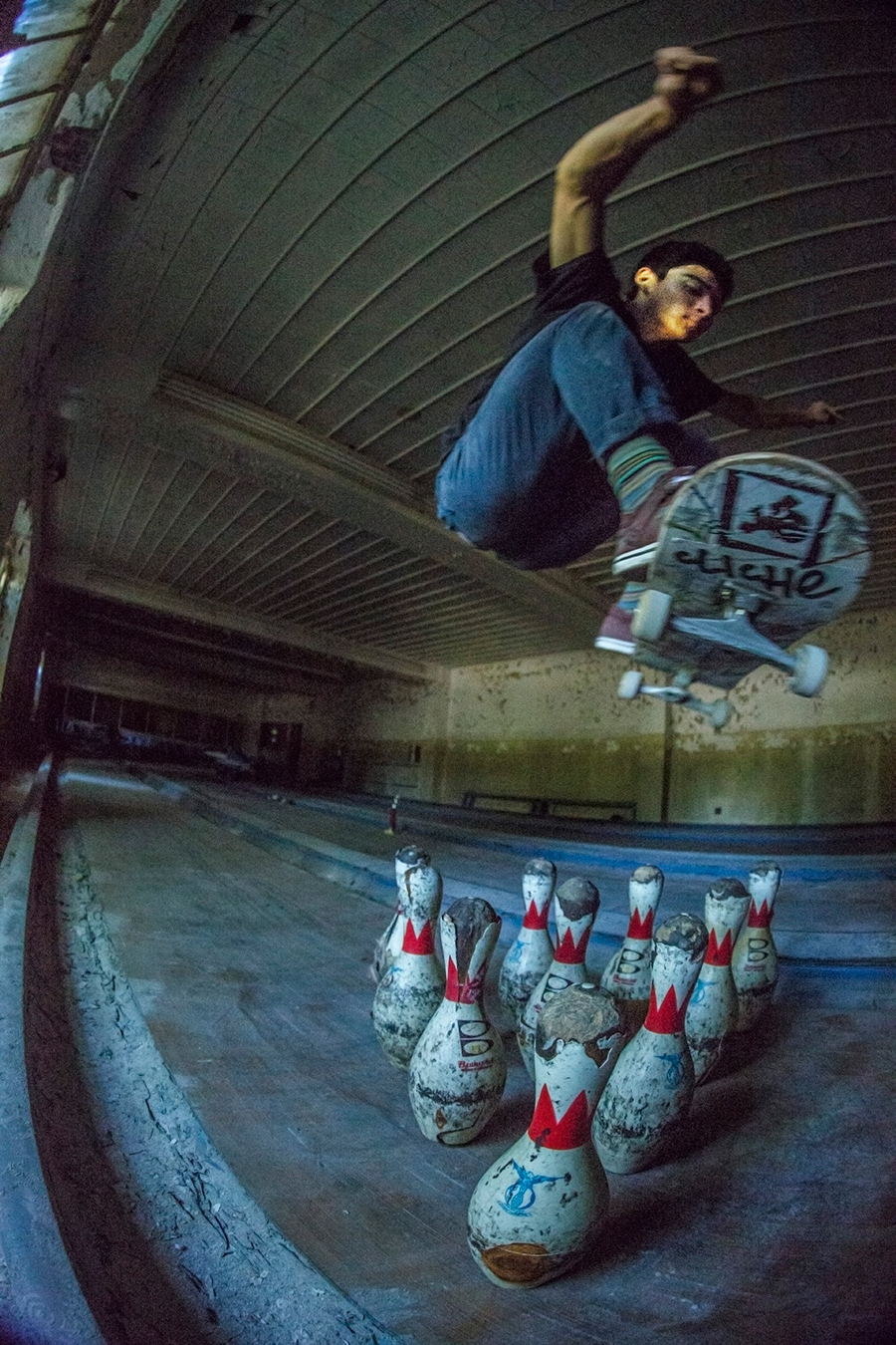 Skating through an Abandoned Psych Ward (with a Hidden Bowling Alley)