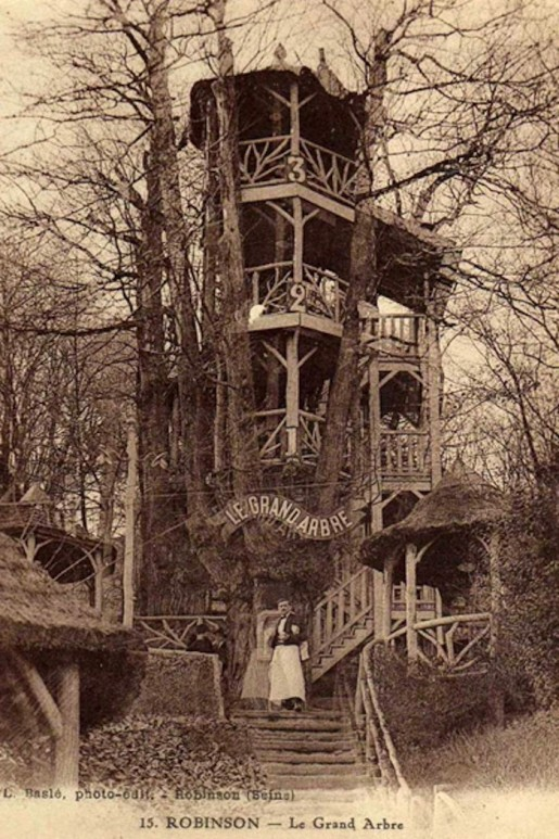 The Forgotten Treehouse Bars of Bygone Summers in Paris