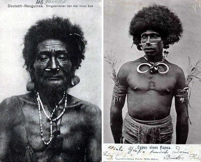 German postcards from Papua New Guinnea
