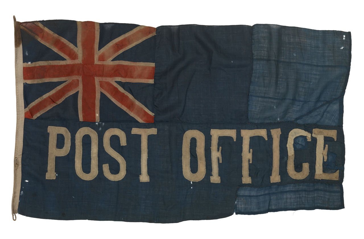 Image of the first British Post Office Ensign Flag.