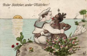 A German postcard, reading: Another city, another girl!