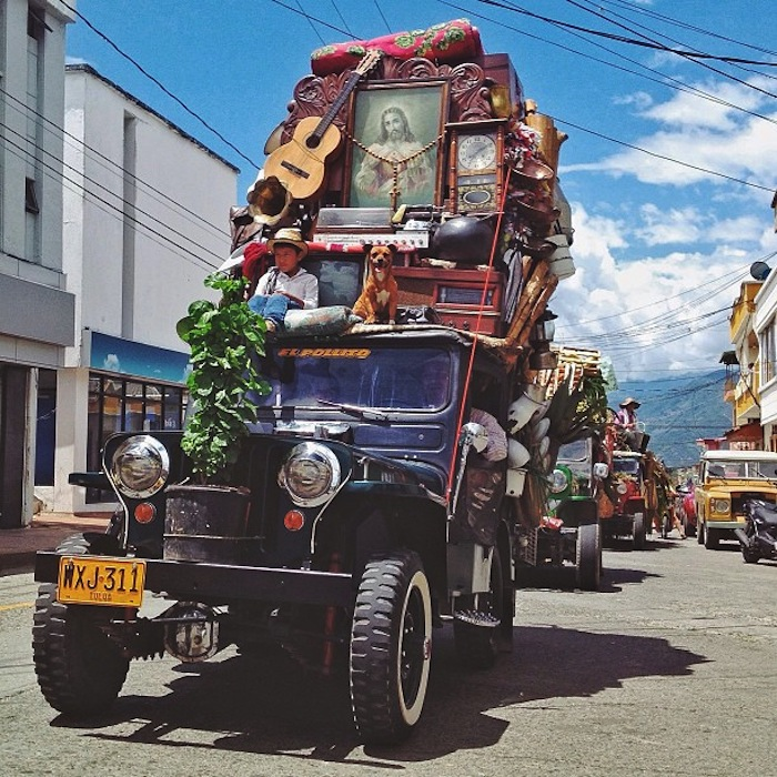 yipao19 colombia u0027s beloved jeeps loaded with everything but the kitchen sink  rh   messynessychic com