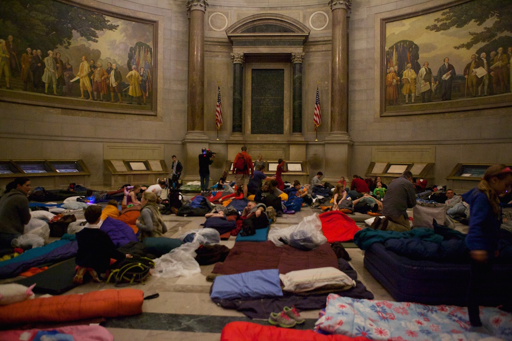National Archives Rotunda Sleepover