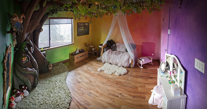 Best Dad Ever Builds A Tree In His Daughter 39 S Bedroom
