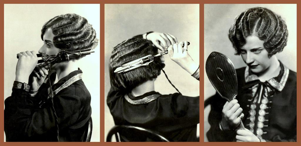 1920s girls curling their hair (2)