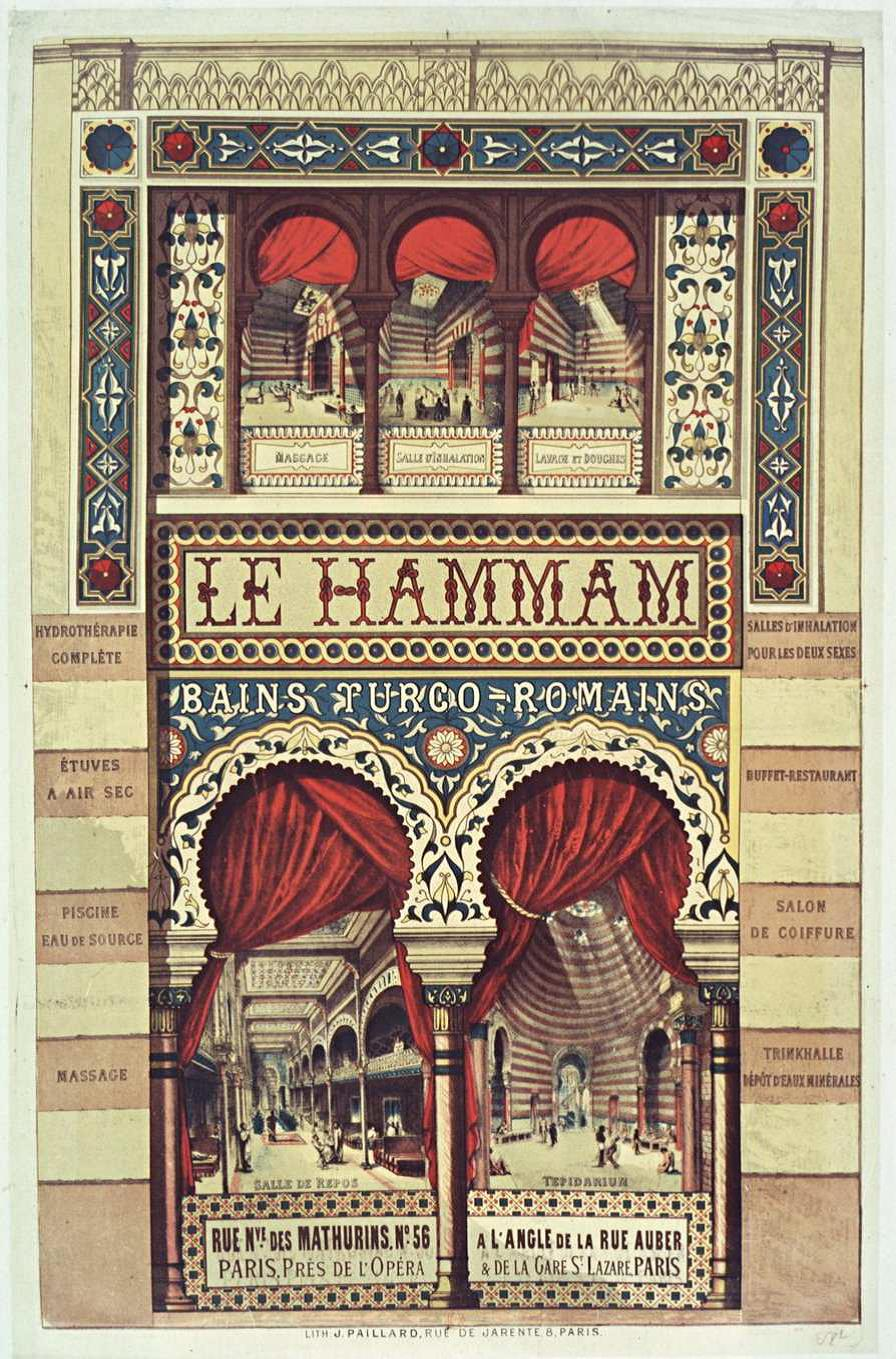 I Was Researching Old Parisian Advertisements From The 19th Century As You Do When Came Across This One For A Palatial Turkish Bath House Near Opera