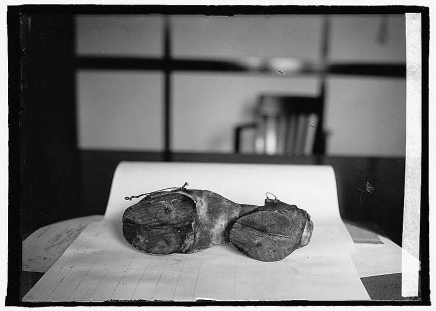 Cow shoes used by Moonshiners in the Prohibition days to disguise their footprints, 1922 3