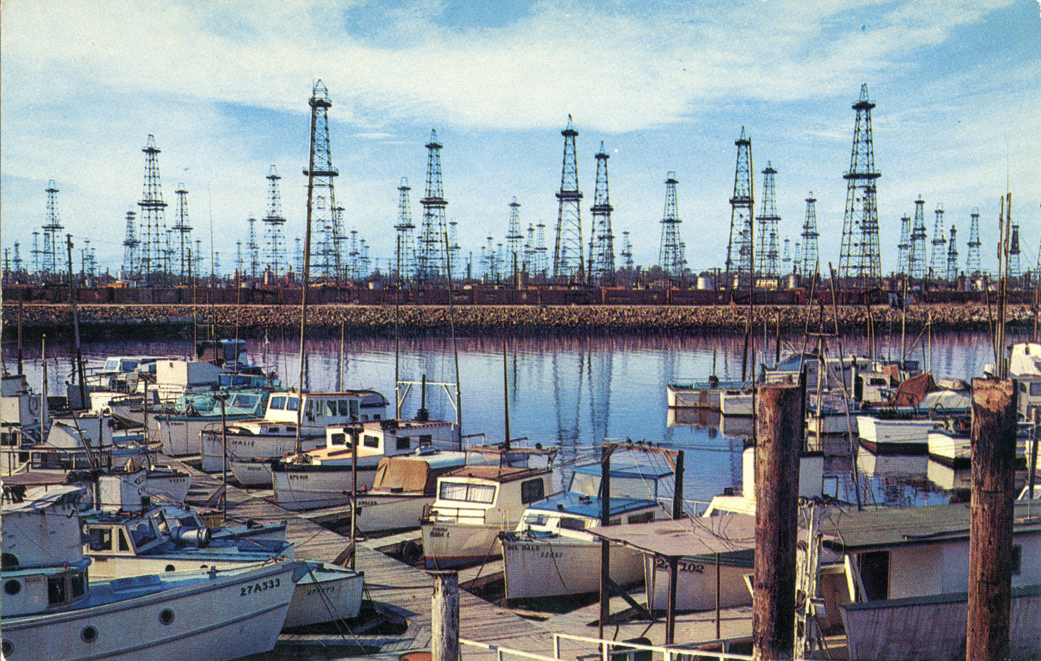 Oil Wells and Boat Landing Terminal Island San Pedro California P31166