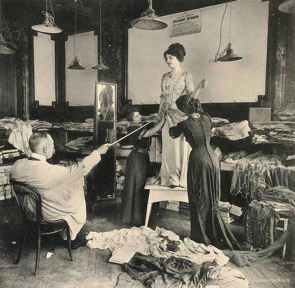 Working in the paris fashion industry 100 years ago for Salon de la mode paris