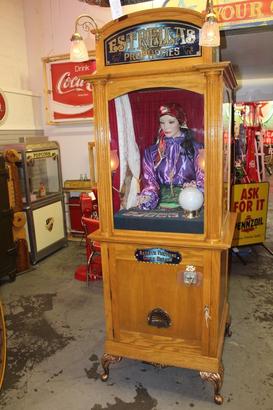 vintage fortune teller machine for sale