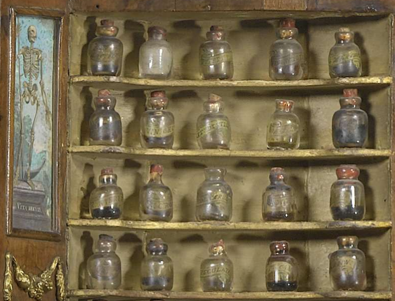 glass-bottles-skeleton-painting