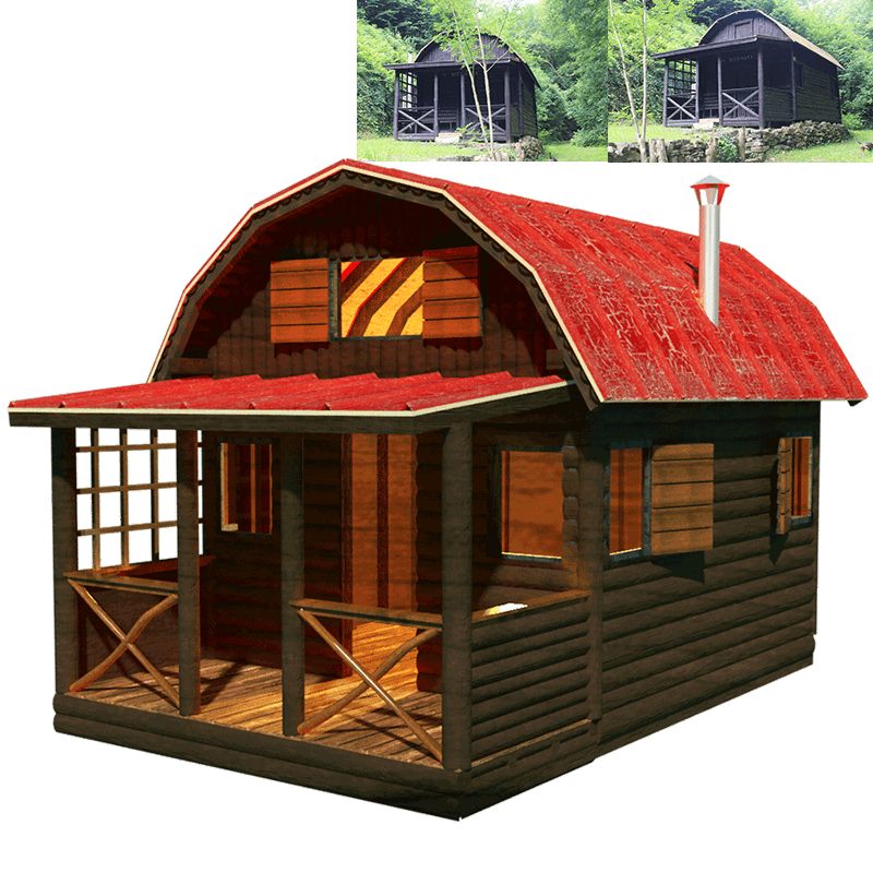 Small cabins with loft joy studio design gallery best design - Free cottage house plans image ...