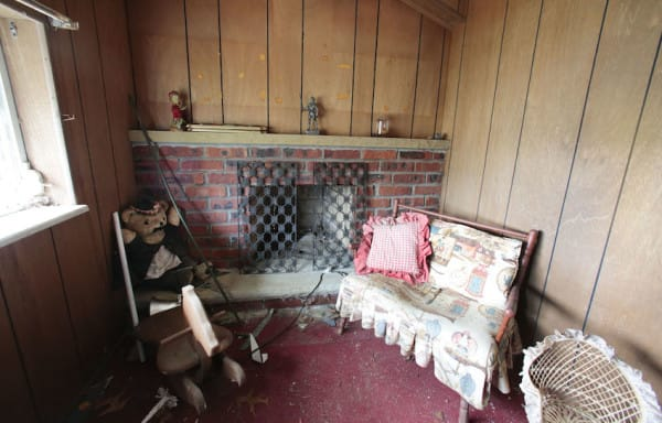 The fully functional fireplace in the living room in the Brick Midget House in Brick, NJ 4/30/15 (William Perlman | NJ Advance Media for NJ.com)