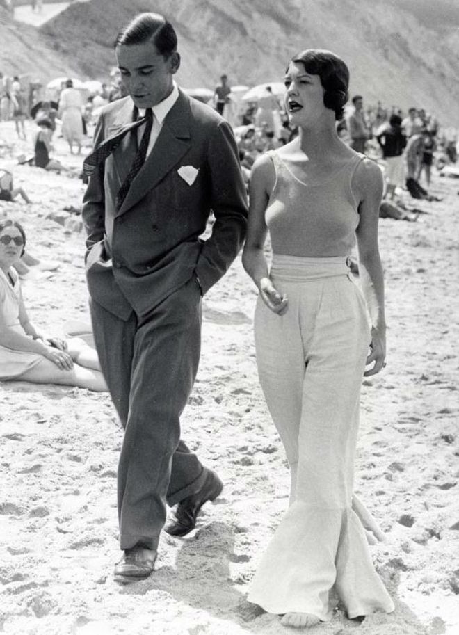 The Interwar Gender Bending Glamour Of The Beach Pyjama