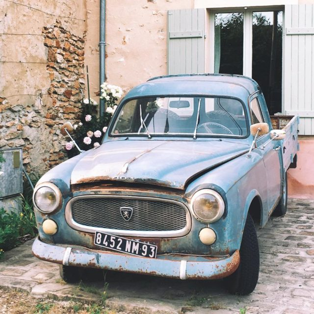 Peugeot 403 pickup enjoying her retirement in a sleepy Frenchhellip