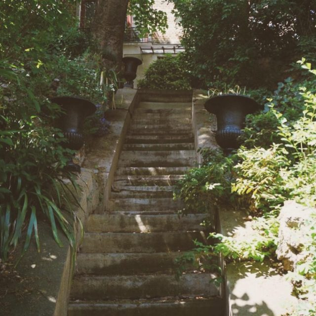 Staircase to a secret villa in Belleville Paris a remnanthellip