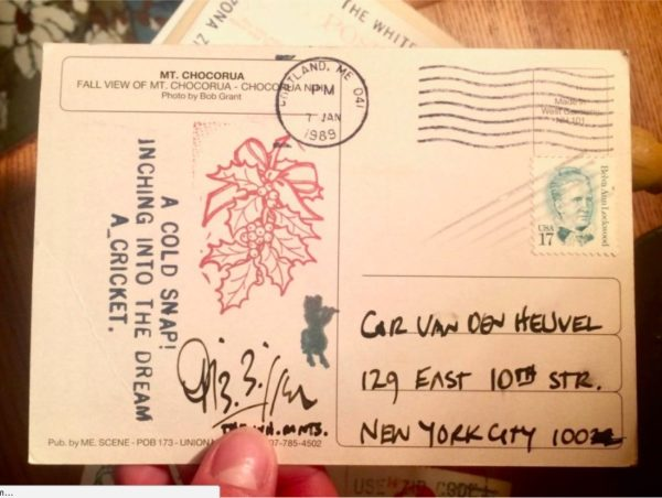 Found in an NYC Junk Shop: Forgotten Postcards between Two Haiku Masters