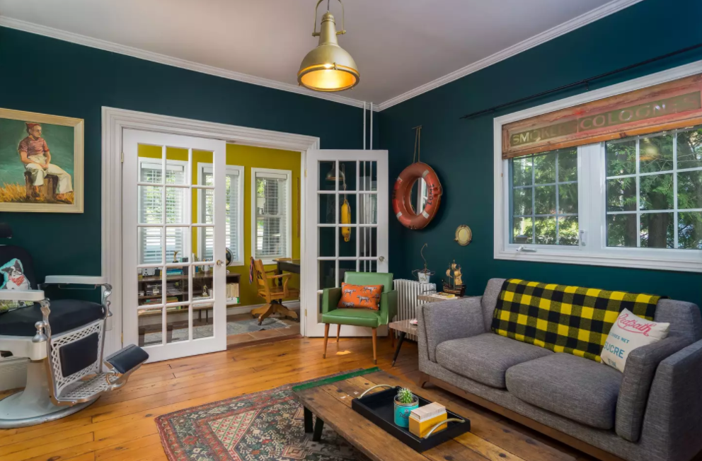 And now the wes anderson airbnb for Quirky living room ideas