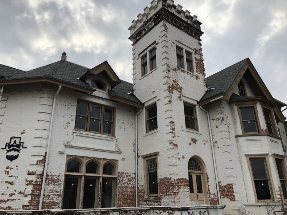 an empty victorian mansion complete with an abandoned masonic temple