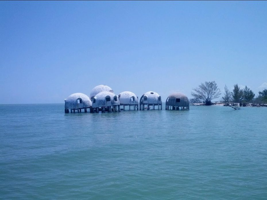 The Mysterious Dome Homes Marching into the Sea: Then & Now