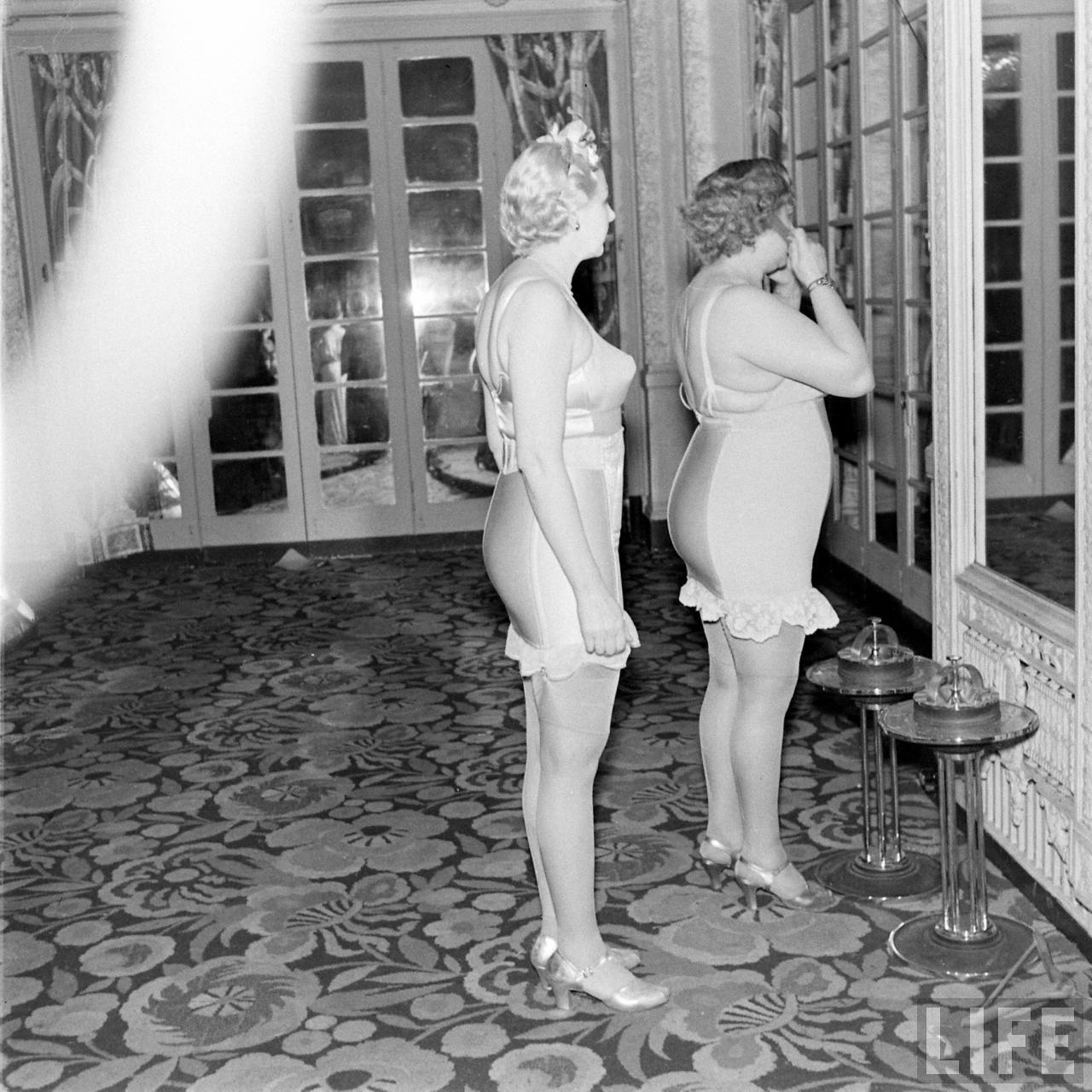 Backstage At The Underwear Show 1940s