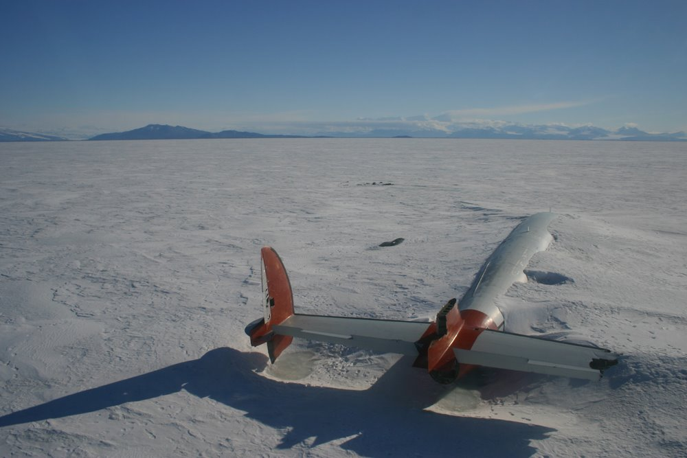 Abandoned in Antarctica: The 1970s Airplane Buried in Snow