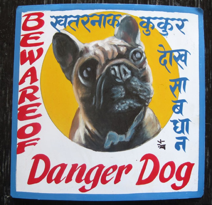 The Himalayan Art Of Beware Of The Dog Signs Saving A Subculture