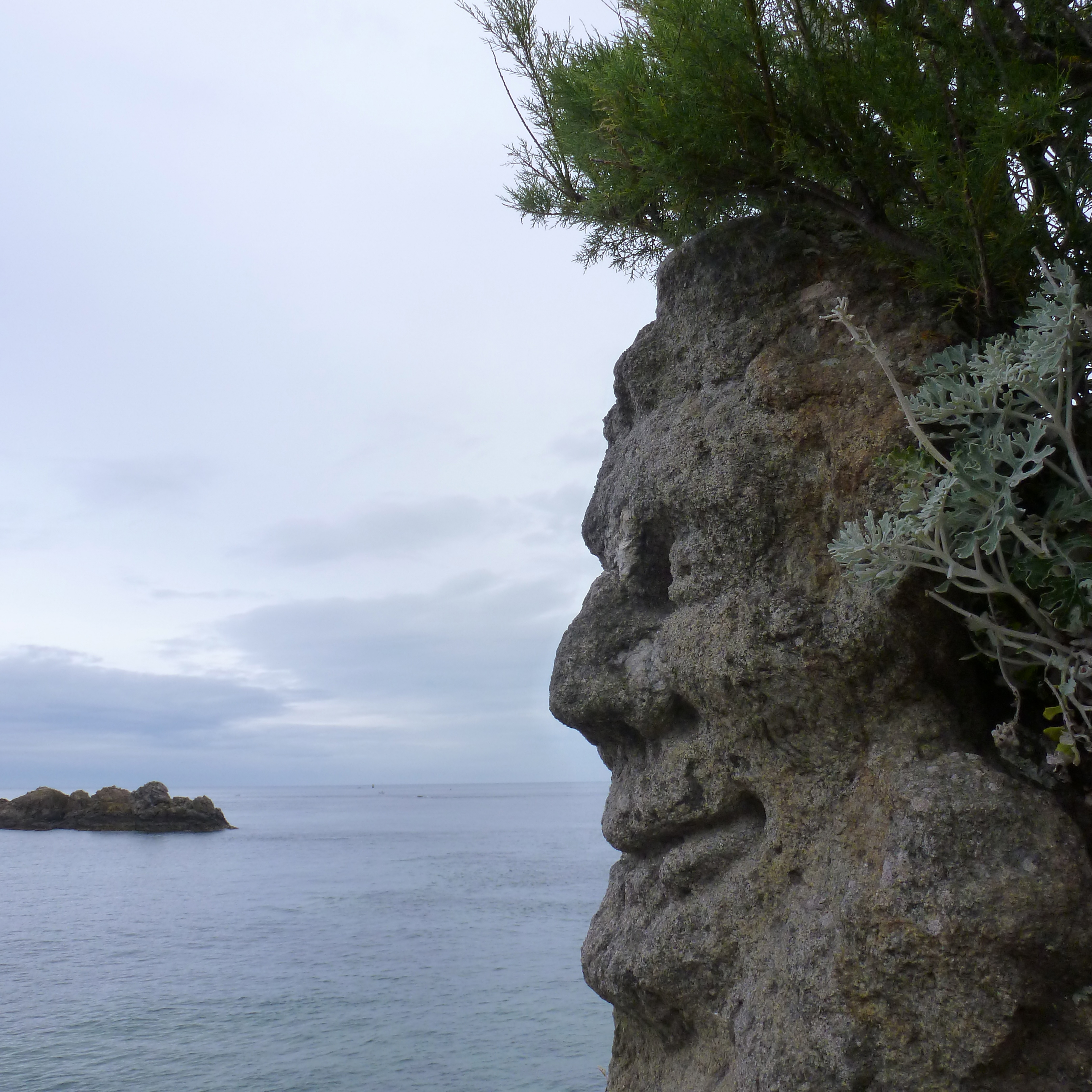 The French Cliff Carved Into Legends Of Old By One Mute Abbot