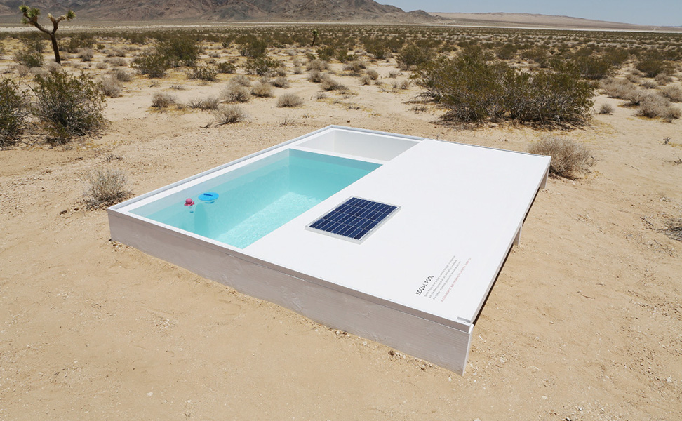 An Artist Dares you to go find his Secret Swimming Pool in the Desert
